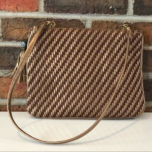 Bueno Brown Bronze & Gold Shoulder Bag
